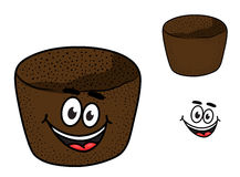 Cartoon rye brown bread Stock Images