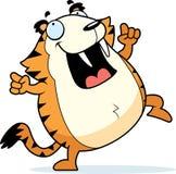 Cartoon Saber-Toothed Tiger Dancing Royalty Free Stock Photos