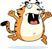 Cartoon Saber-Toothed Tiger Panic Royalty Free Stock Image