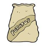 Cartoon sack of potatos Royalty Free Stock Photography