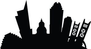 Cartoon Sacramento. Cartoon silhouette of the city of Sacramento, California