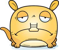 Cartoon Sad Aardvark. A cartoon illustration of a little aardvark with a sad expression Stock Photography