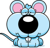 Cartoon Sad Baby Mouse Royalty Free Stock Images