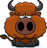 Cartoon Sad Buffalo Stock Photography