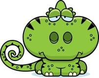 Cartoon Sad Chameleon Royalty Free Stock Images