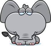Cartoon Sad Elephant Stock Photo
