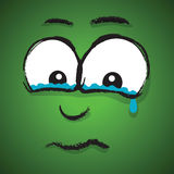 Cartoon sad face Royalty Free Stock Photography