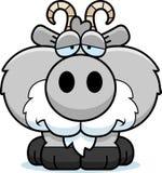 Cartoon Sad Goat. A cartoon illustration of a goat with a sad expression Royalty Free Stock Image