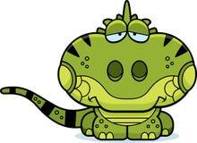 Cartoon Sad Iguana Stock Photos