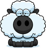 Cartoon Sad Lamb Royalty Free Stock Photo