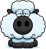 Cartoon Sad Lamb Royalty Free Stock Photo
