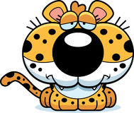 Cartoon Sad Leopard Stock Image