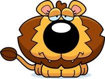 Cartoon Sad Lion Cub Royalty Free Stock Photo