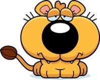 Cartoon Sad Lioness Cub Stock Image