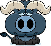 Cartoon Sad Little Blue Ox Royalty Free Stock Photography