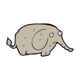 cartoon sad little elephant Stock Photo
