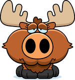 Cartoon Sad Moose Royalty Free Stock Photography