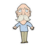 Cartoon sad old man Stock Photography