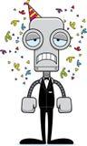 Cartoon Sad Party Robot Stock Photo