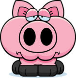 Cartoon Sad Pig Stock Photo