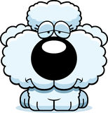 Cartoon Sad Poodle. A cartoon illustration of a poodle puppy with a sad expression royalty free illustration