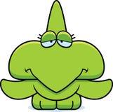 Cartoon Sad Pterodactyl Royalty Free Stock Images