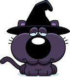 Cartoon Sad Witch Cat Royalty Free Stock Photo