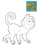 Cartoon safari - coloring page for the children Stock Image
