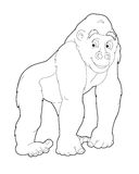 Cartoon safari - coloring page - illustration for the children Stock Photos