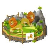 Cartoon safari - illustration for the children stock illustration