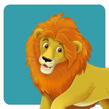 Cartoon safari - illustration for the children Royalty Free Stock Images