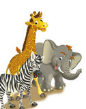 Cartoon safari - illustration for the children Royalty Free Stock Image