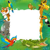Cartoon safari - jungle - frame royalty free illustration