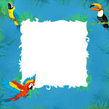 Cartoon safari - jungle - frame Stock Photo