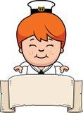 Cartoon Sailor Banner Stock Photography