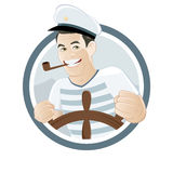 Cartoon sailor sign Stock Images