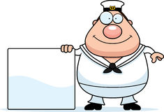 Cartoon Sailor Sign Royalty Free Stock Image