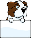 Cartoon Saint Bernard Sign Royalty Free Stock Images
