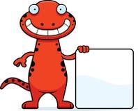 Cartoon Salamander Sign Stock Photo