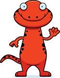 Cartoon Salamander Waving Stock Photo