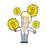 Cartoon salesman Stock Photos