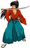 Cartoon samurai Royalty Free Stock Images