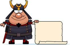 Cartoon Samurai Sign Royalty Free Stock Images