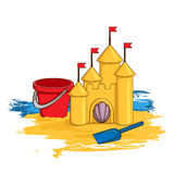 Cartoon sand castle Stock Photography