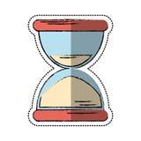 Cartoon sand clock time icon. Vector illustration eps 10 royalty free illustration