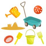 Cartoon sand toys Royalty Free Stock Photography
