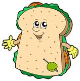 Cartoon sandwich Stock Images