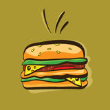 Cartoon Sandwich Royalty Free Stock Photography