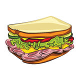 Cartoon Sandwich Royalty Free Stock Photos