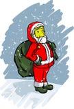 Cartoon santa. Illustration of a cartoon santa claus stock illustration